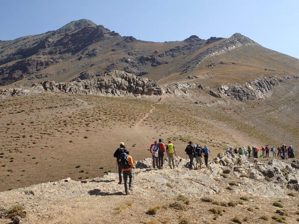 Der Aufstieg zum Gipfel des Koloun Bastak