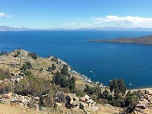 Blick auf den Titicacasee von der Sonneninsel