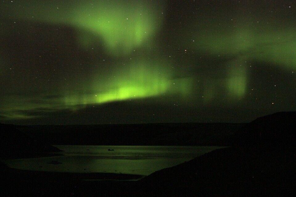 Nordlicht überm Fjord