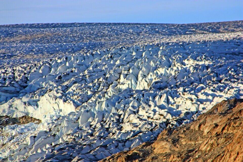 Gletscherzunge im Abendlicht