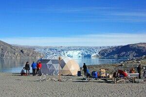 Gletschercamp mit Blick aufs Inlandeis