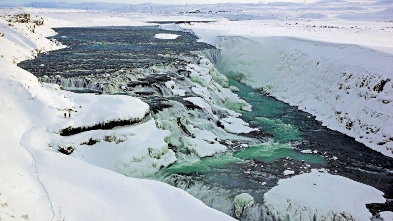 Winterlicher Gullfoss © Diamir