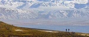 Wanderer in grandioser Landschaft