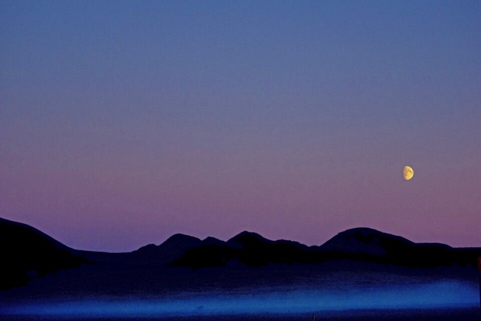 Lichtstimmung mit Mond