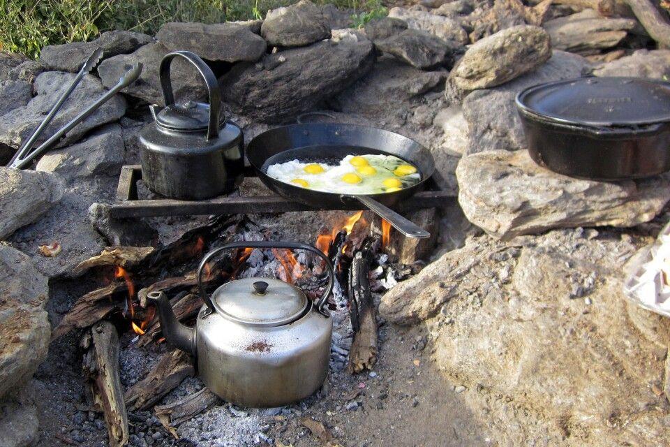 Leckeres Frühstück im Camp