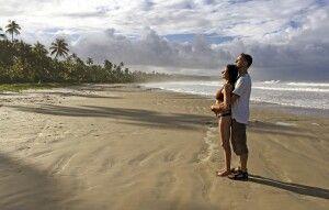 Sonne tanken am einsamen Strand in Bahia
