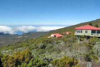 Berghütte beim Vulkan