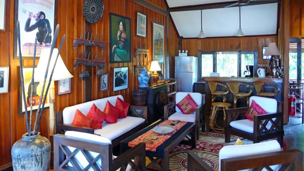 Wohnbereich im La Folie Lodge
