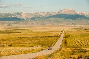 Ansicht der Frontberge der Rocky Mountains, Montana