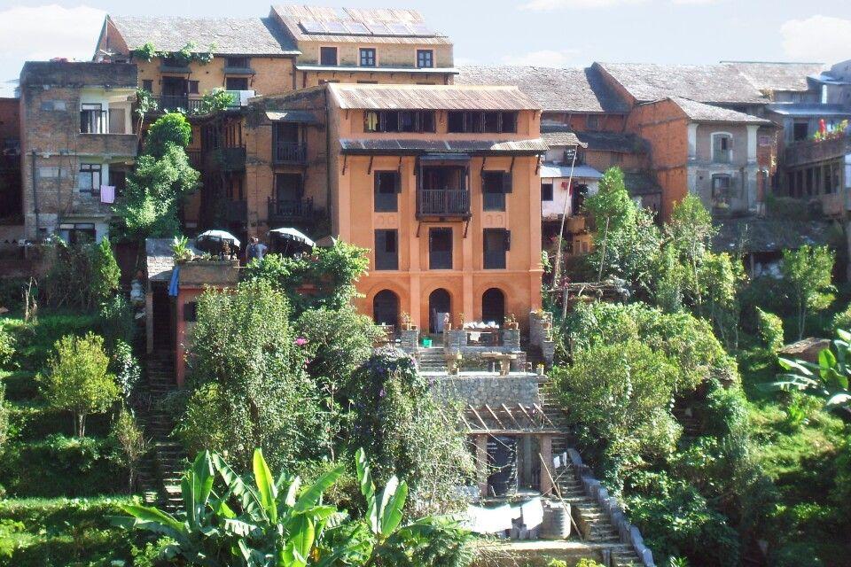 Gebäude im Newari-Stil in Bandipur