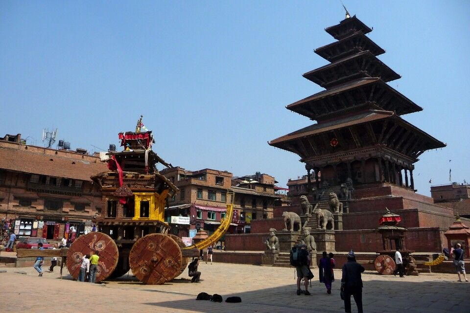 traditioneller Kultwagen in Bhaktapur