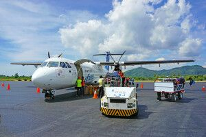 Nach der Landnung in Labuhan Bajo: Garuda Indonesia ATR-72