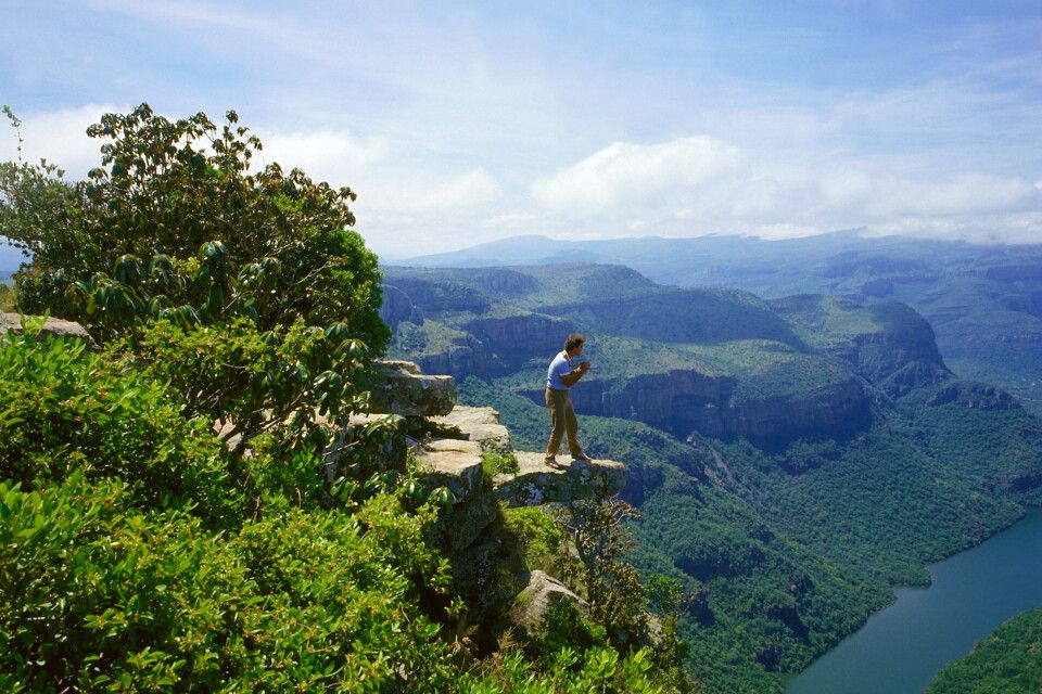 Blick in die Ferne am Blyde River-Canyon
