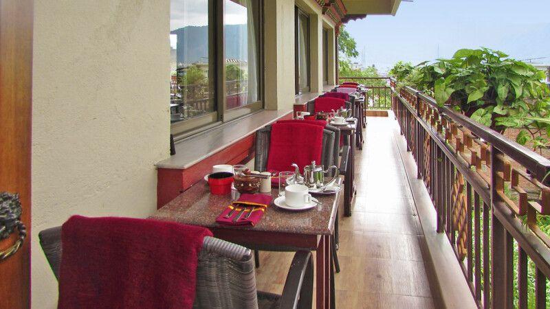 Frühstücksbalkon vom Kathmandu View Hotel © Diamir