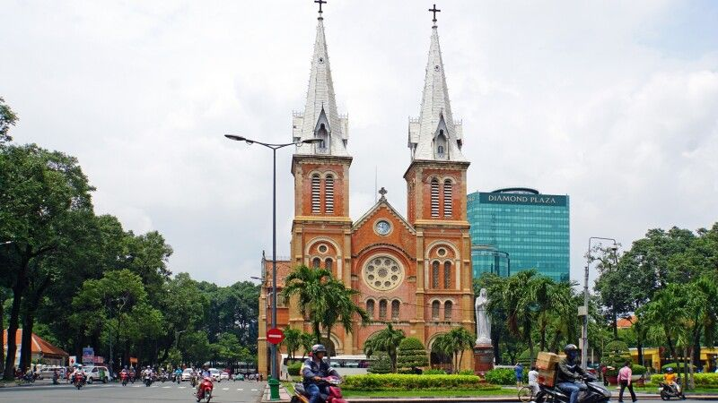 Kirche Notre Dame in Saigon © Diamir