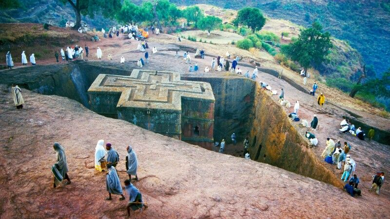 Georgiskirche in Lalibela © Diamir