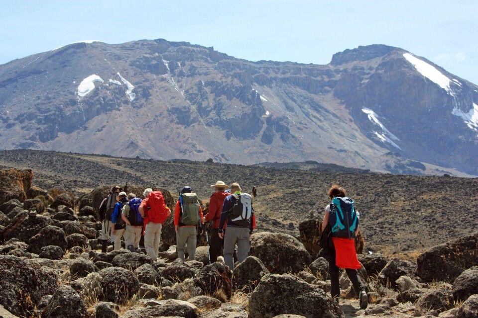 Der nächste Aufstieg führt uns in Richtung Lava Tower (4600 m).