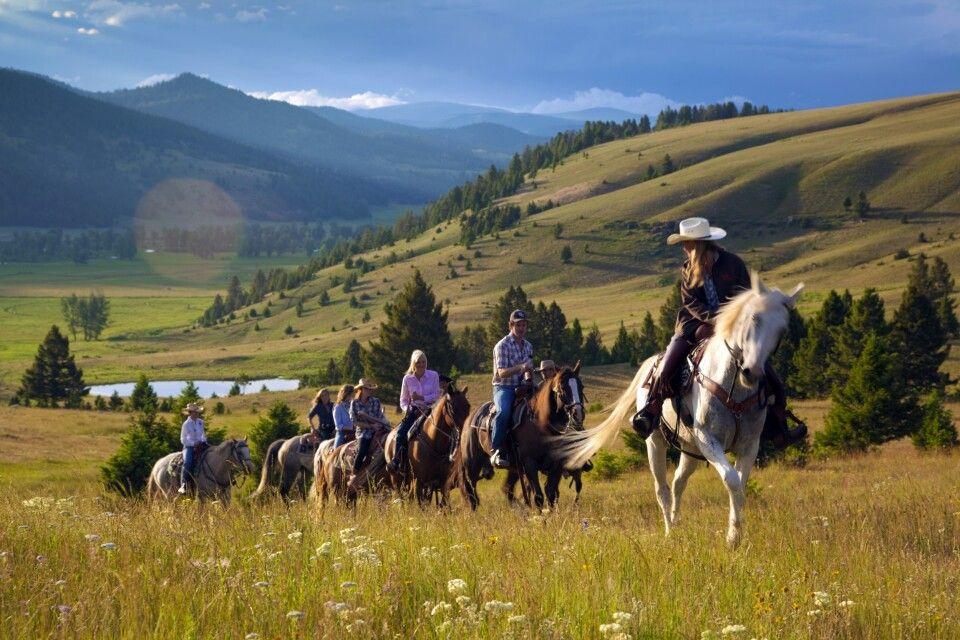 Ausritt durch die wunderschöne Landschaft Montanas