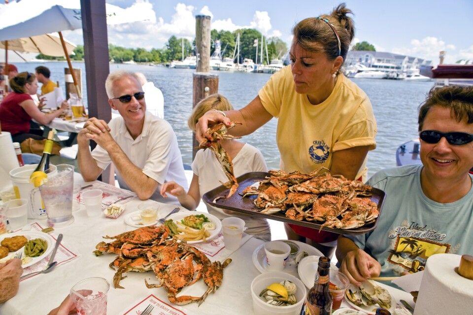 Herrliches Krabben-Mittagessen