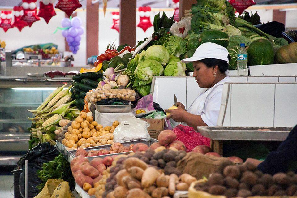 Gemüsestand im Mercado San Francisco