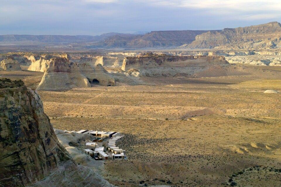 Blick von oben auf Amangiri, Utah