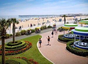 Strand und Promenade in Virginia Beach