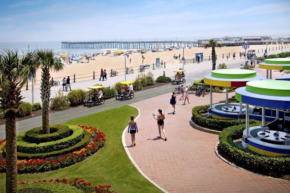 Strand und Promenade in Virginia City