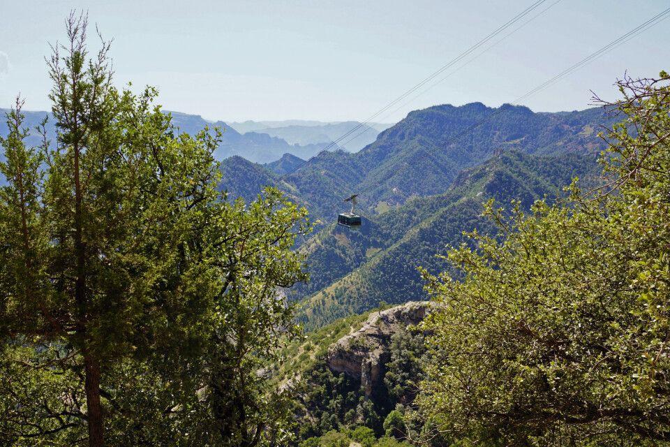 Spektakuläre Seilbahnfahrt in der Kupferschlucht