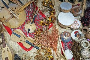 Traditionelles Kunsthanderk im Norden von Mexiko