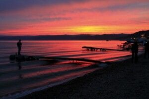Abendstimmung am Baikal-Ufer