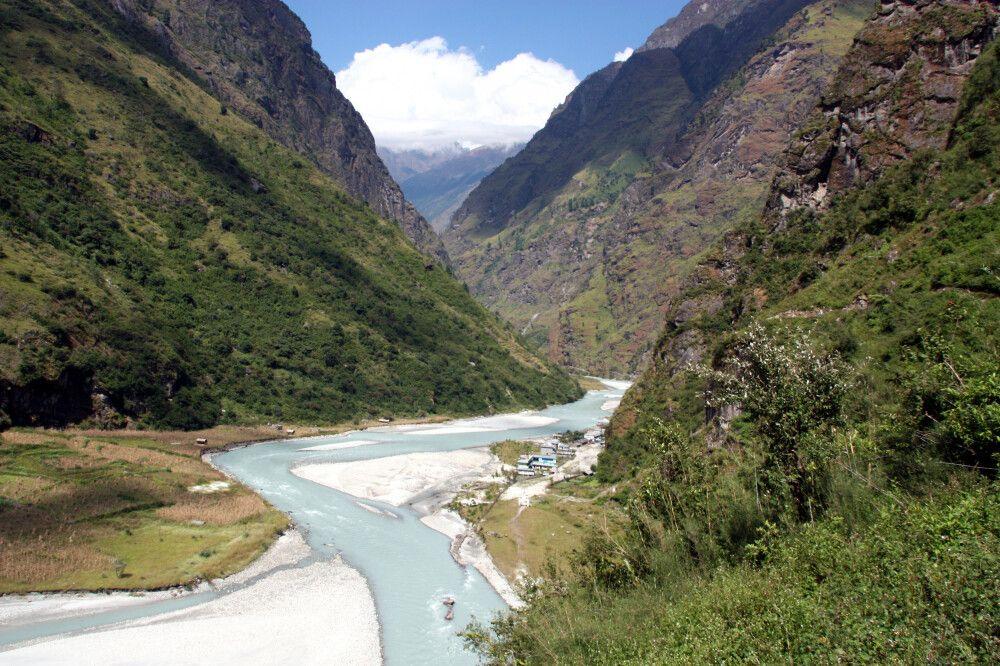 Der Marsyangdi auf dem Annapurna Trek
