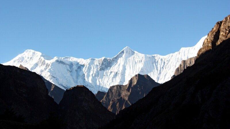 Blick zur Annapurna Gruppe © Diamir