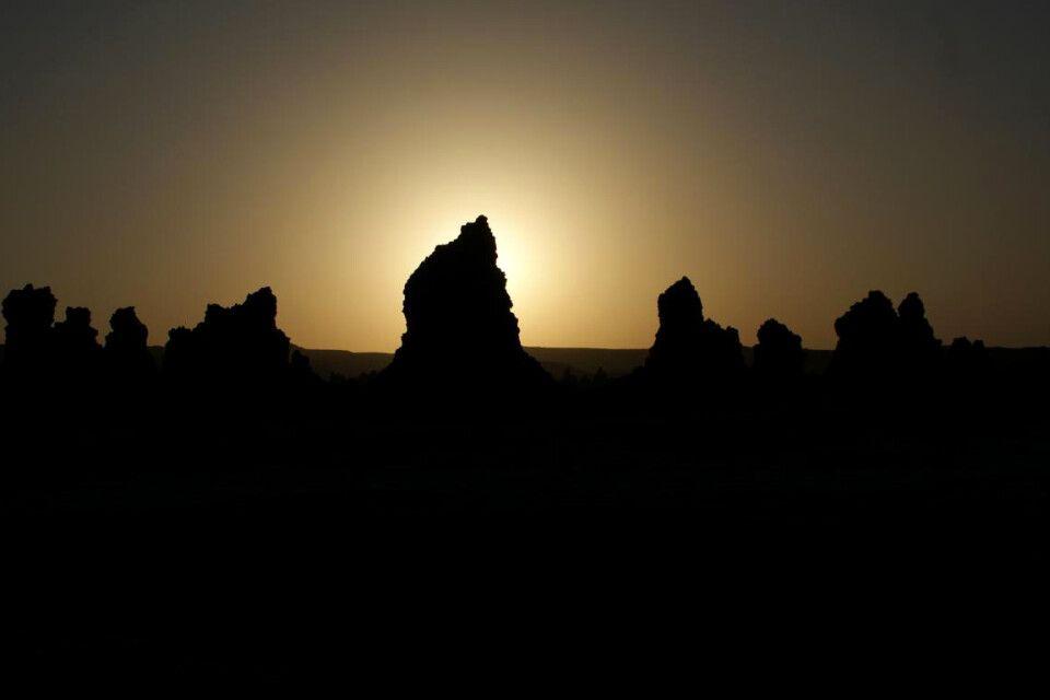 Sonnenaufgang hinter den Hornitos