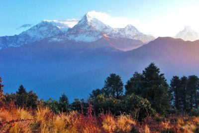 Aussicht auf Annapurna vom Poon Hill