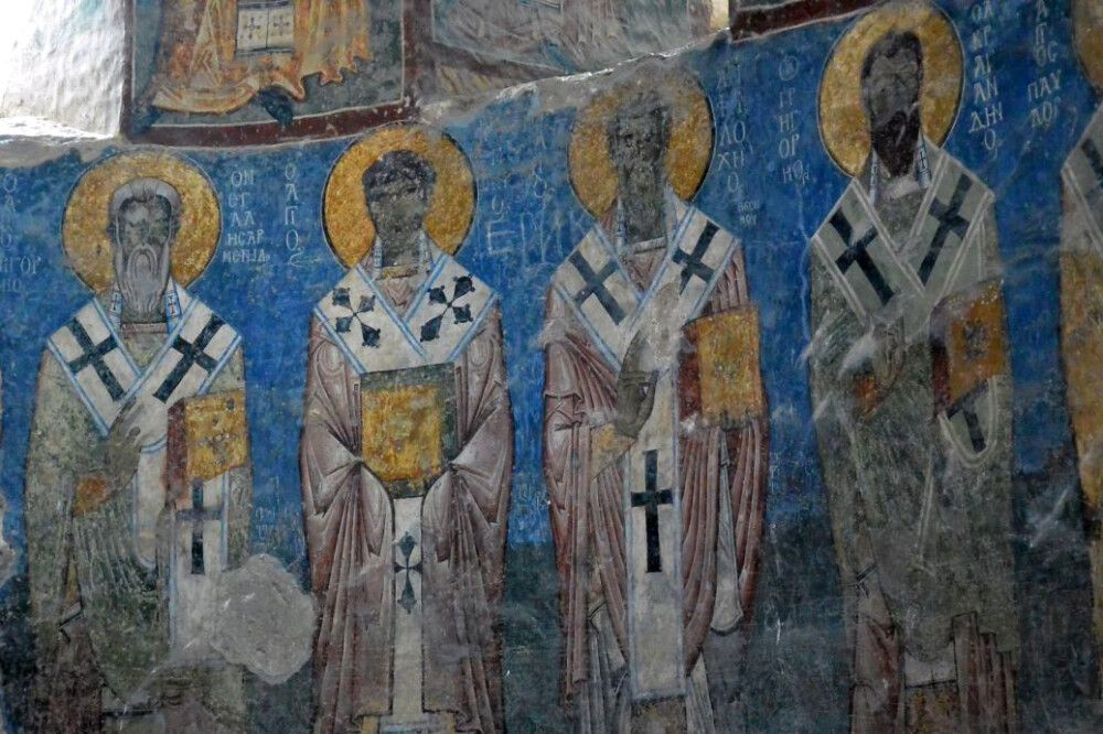 Fresken im Kloster Akhtala
