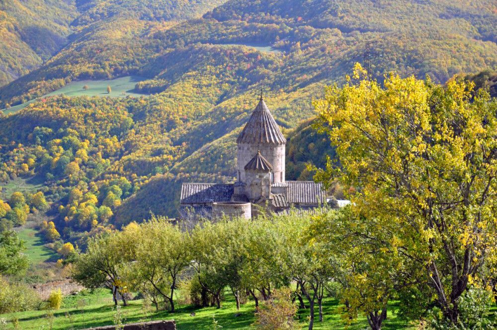 Kloster Tatev im Herbst