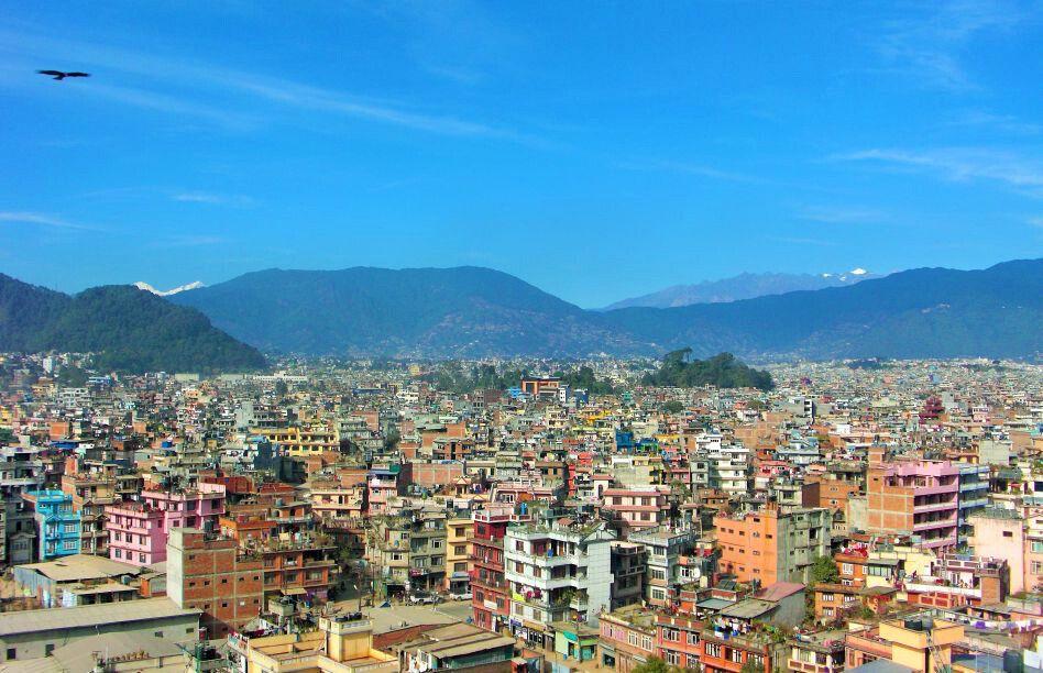 Kathmandu: Aussicht vom Kathmandu View Hotel