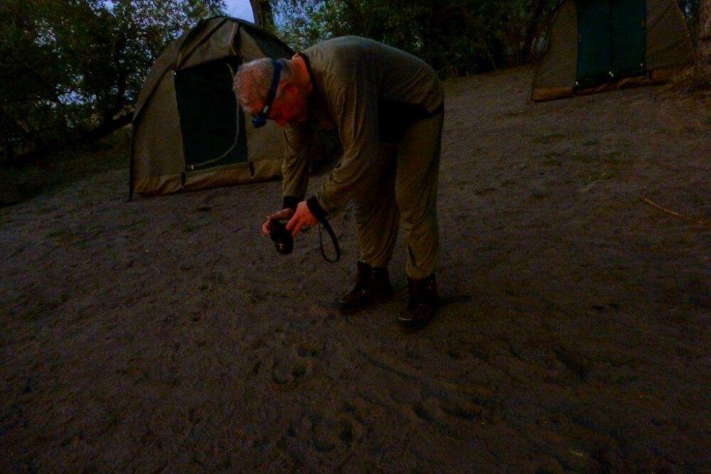 eifrige Spurensuche im Camp