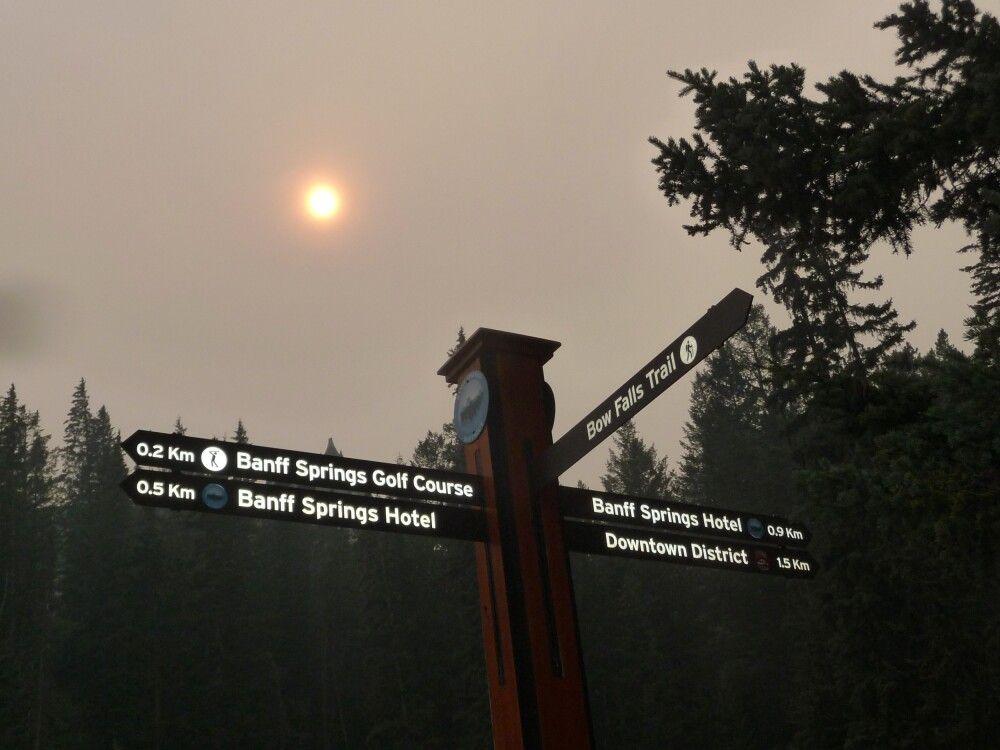 Der Rauch von Waldbränden in den USA lässt die Sonne in einem seltsamen Licht erscheinen