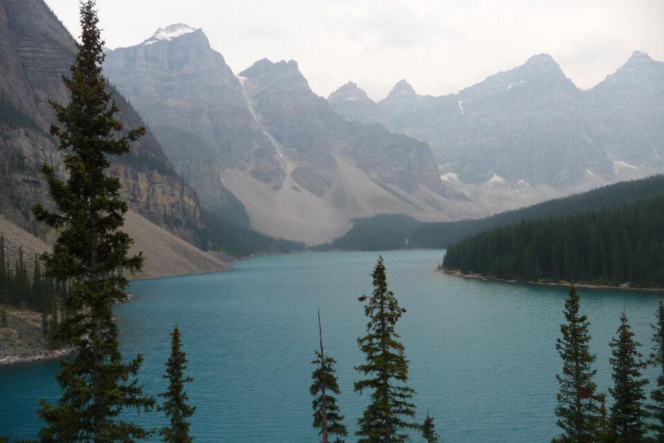 Der berühmte Moraine Lake