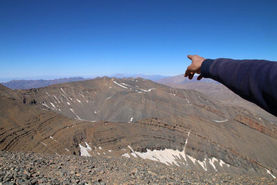 Der Hohe Atlas mit Djabal Toubkal (4167m) am Horizont