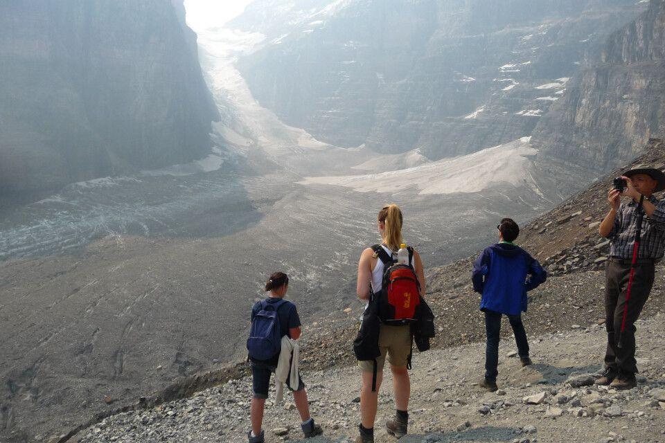 Wanderung zum Victoria Gletscher im Yoho-Nationalpark