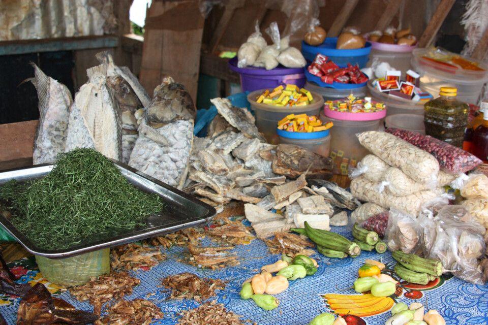 Essen auf einem Markt