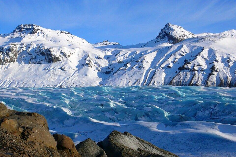 Grandiose Eis- und Schneelandschaften