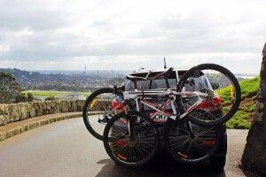 Transport der Fahrräder mittels Heck-Gepäckträger