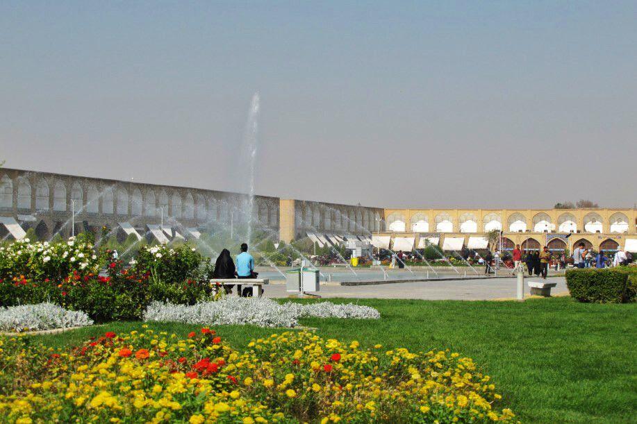 Isfahan: Imam-Platz nordwestliche Ecke