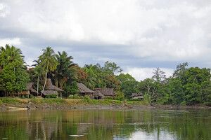 Dorf im Sepik