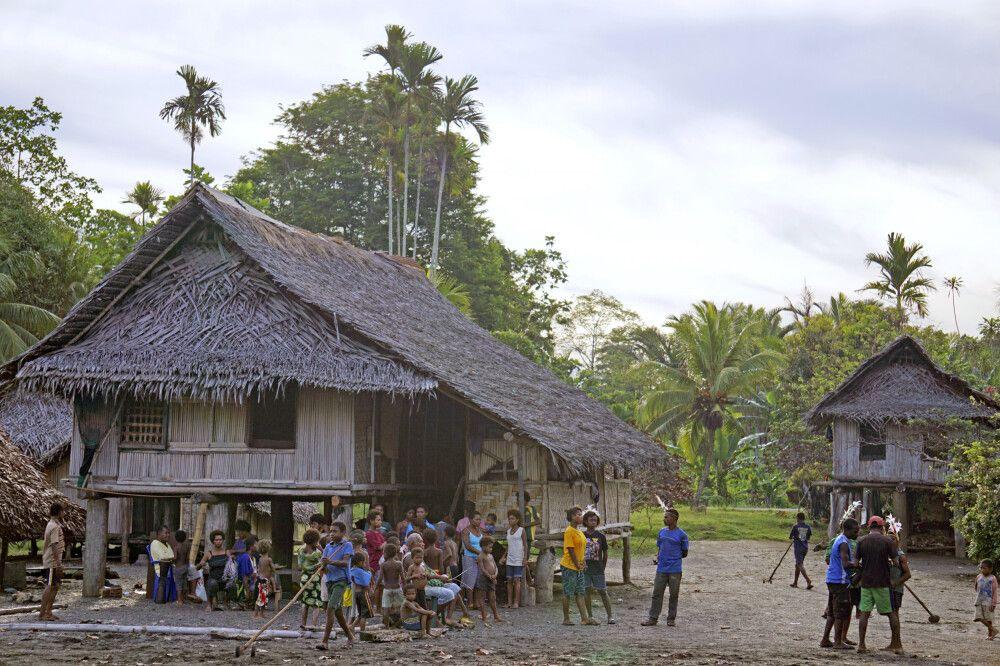 Dorf bei Madang