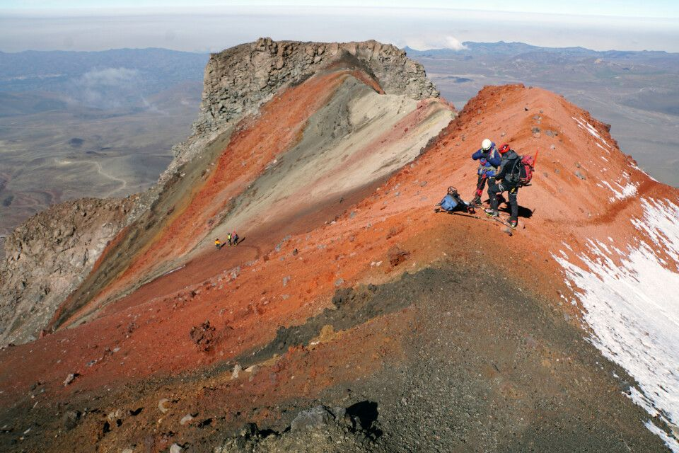 Im Abstieg vom Chimborazo oberhalb von El Castillo