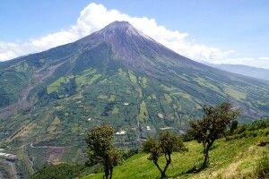 Der Tungurahua bei Baños gilt als aktiver Vulkan